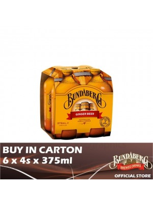 Bundaberg Ginger Beer 6 x 4s x 375ml