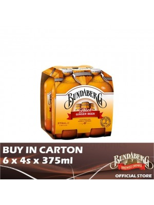 Bundaberg Ginger Beer Diet 6 x 4s x 375ml