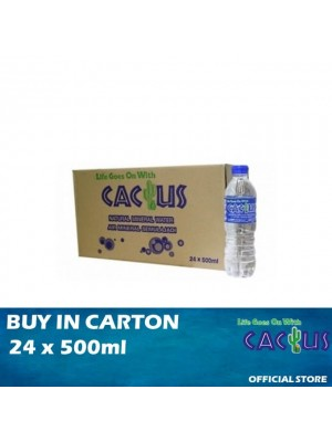 Cactus Mineral Water 24 x 500ml [Essential]