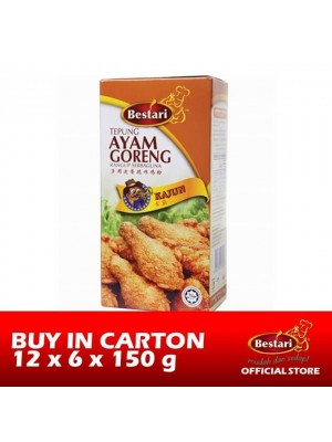 Bestari Fried Chicken Coating - Cajun 12 x 6 x 150g