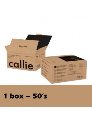 Callie 3 Ply Surgical Face Black (50's) 1 Box