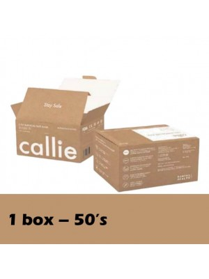 Callie 3 Ply Surgical Face White (50's) 1 Box