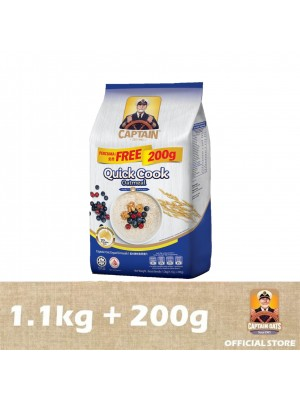 Captain Oats - Quick Cooking Foil Pack 1.1kg + 200g
