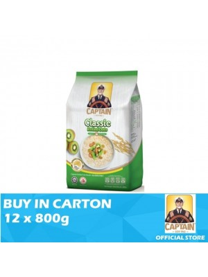 Captain Oat Rolled Oats - Foil Pack 12 x 800g