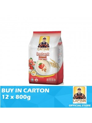 Captain Oats - Instant Foil Pack 12 x 800g