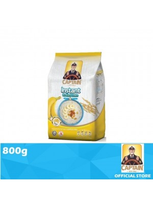 Captain Oats Foil Pack Instant Rolled Oats 800g
