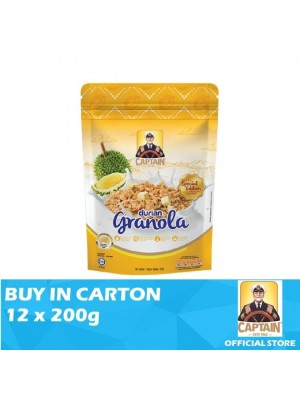 Captain Oats Granola Durian 12 x 200g