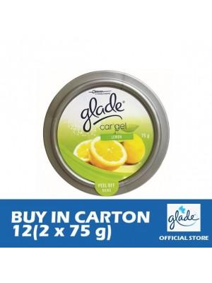 Glade Car Gel Lemon 12 (Twin Pack 2 x 75g)