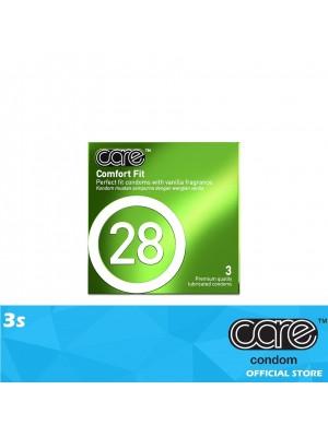 Care 28 Comfort Fit Condom 3s