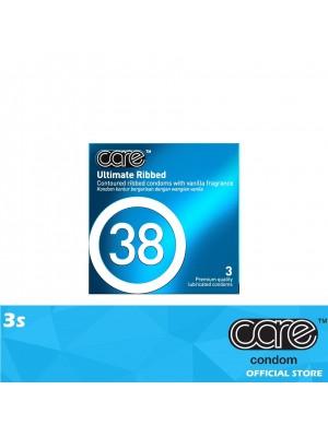 Care 38 Ultimate Ribbed Condom 3s