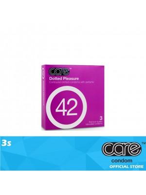 Care 42 Dotted Pleasure Condom 3s