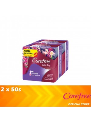 Carefree Super Dry Shower Fresh Scent (Twin Pack 2 x 50's) [MUST BUY]