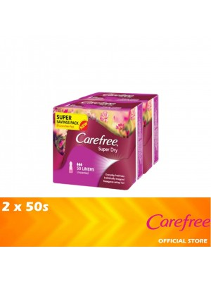Carefree Super Dry Unscented (Twin Pack 2 x 50's) [PA21]