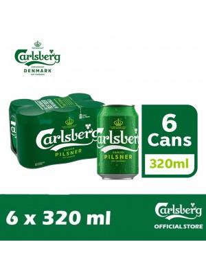 2C. Carlsberg Danish Pilsner Beer Can 6 x 320ml