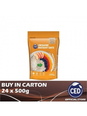 CED Organic Instant Oats 24 x 500g