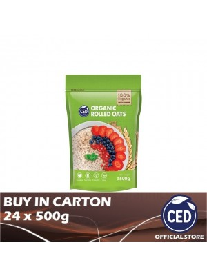 CED Organic Rolled Oats 24 x 500g