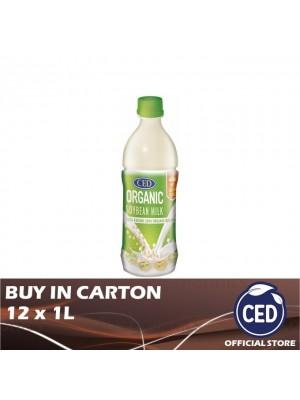 CED Organic Soybean Milk No Sugar Added 12 x 1L