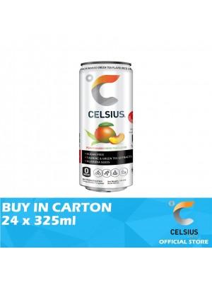 Celsius Peach Mango Green Tea Flavoured Drink 24 x 325ml
