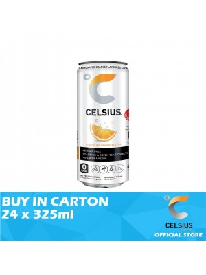 Celsius Sparkling Orange Flavoured Drink 24 x 325ml