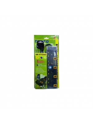 Cento 4Way 3 Pin Socket Outlet With Neon 2M Black+Yaloow