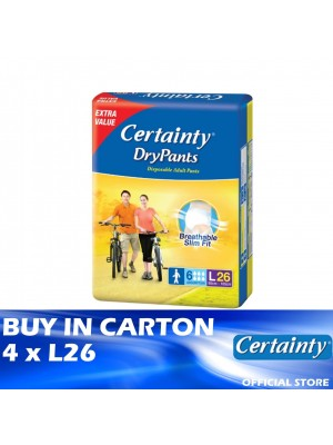 Certainty Drypants Jumbo Pack 4 x L26
