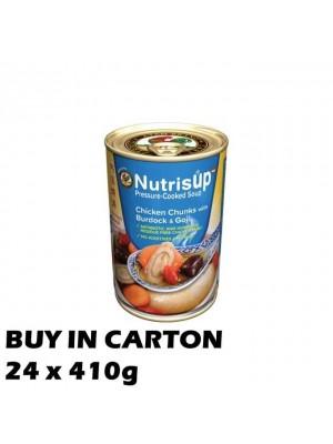 NutrisUP Chicken Chunks with Burdock & Goji 24x410g