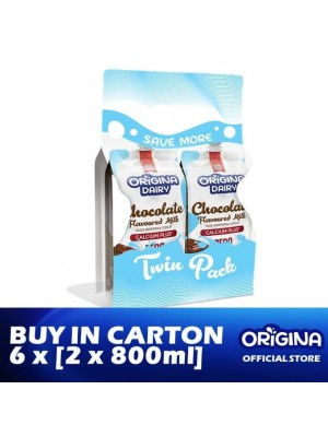 Origina Dairy Chocolate Milk 6 x [Twin-Pack 2 x 800ml]
