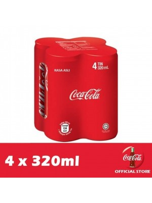 Coca-Cola Rasa Asli 4 x 320ml
