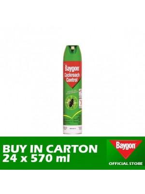 Baygon Cockroach Control Aerosol 24 x 570ml