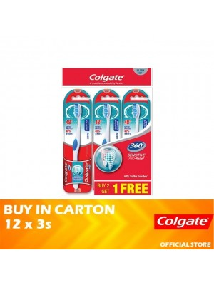 Colgate 360 Sensitive Pro Relief Toothbrush Ultra Soft Valuepack 12 x 3s