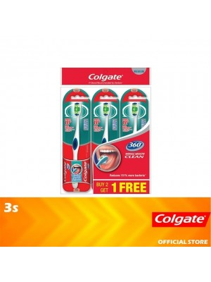 Colgate 360 Whole Mouth Clean Toothbrush Medium Valuepack 3s