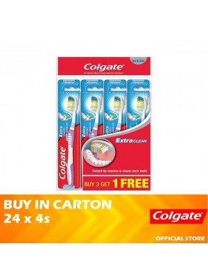 Colgate Extra Clean Toothbrush Medium Valuepack 24 x 4s