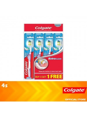 Colgate Extra Clean Toothbrush Medium Valuepack 4s