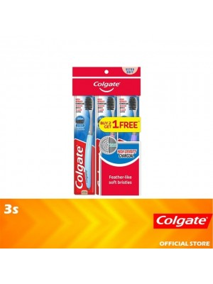 Colgate High Density Charcoal Toothbrush Ultra Soft Valuepack 3s