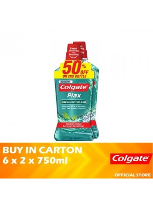Colgate Plax Freshmint Splash Mouthwash Valuepack 6 x 2 x 750ml