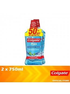 Colgate Plax Peppermint Fresh Mouthwash Valuepack 2 x 750ml