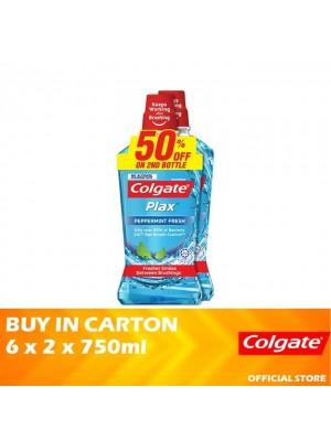 Colgate Plax Peppermint Fresh Mouthwash Valuepack 6 x 2 x 750ml