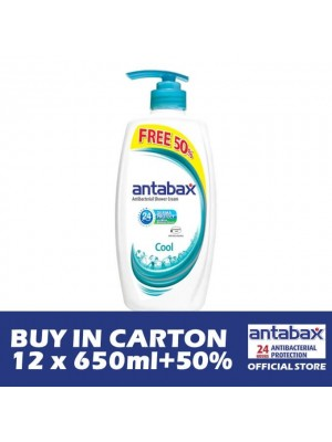 Antabax Anti-Bacterial Shower Gel - Cool 12 x (650ml + 50%)
