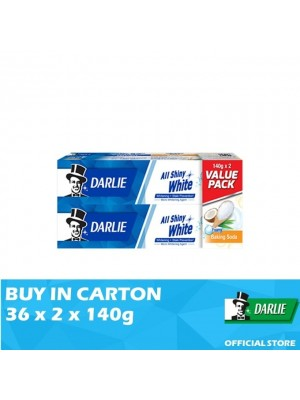 Darlie All Shiny White Baking Soda 36 x (Value Pack 2 x 140g)