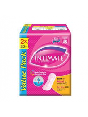 Intimate Daylite Maxi 2 pkts x 20 pcs (Value Pack)