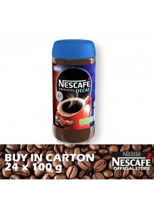 Nestle Nescafe Decaf Jar 24 x 100g