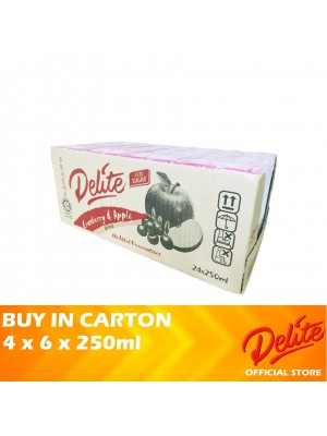 Delite Asian Drink Cranberry & Apple 4 x 6 x 250ml [LCD]
