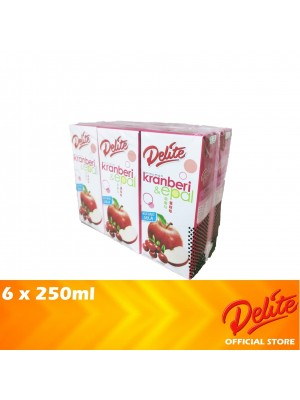 Delite Asian Drink Cranberry & Apple 6 x 250ml (EXP : 03/2021) [MUST BUY]