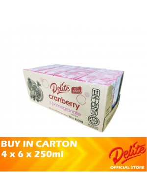 Delite Asian Drink Cranberry & Pomegranate 4 x 6 x 250ml