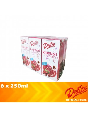 Delite Asian Drink Cranberry & Pomegranate 6 x 250ml
