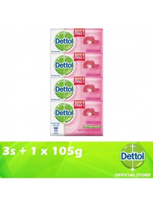 Dettol Body Soap Skincare 3+1 x 105g