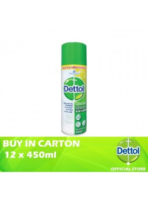 Dettol Disinfectant Spray Morning Dew 12 x 450ml