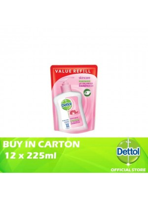 Dettol Hand Wash Pouch Skincare 12 x 225ml