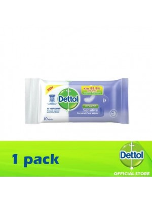 Dettol Personal Care Wet Wipes Sensitive 10's [MUST BUY]