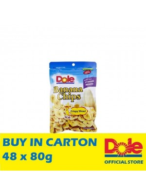 Dole Banana Chips in Pillow Pouch 48 x 80g